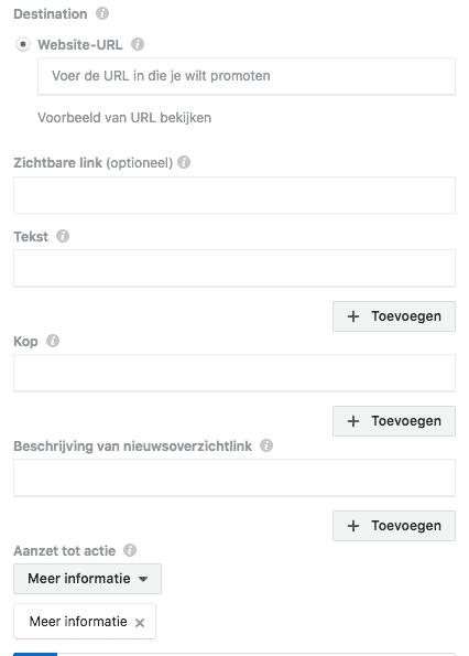 Facebook dynamisch advertentiemateriaal in Power editor