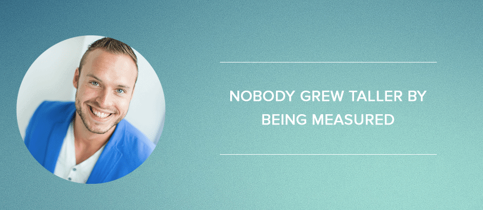Online-marketingplan: Nobody grew taller by being measured