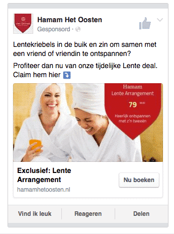 facebook en instagram advertentie a:b test