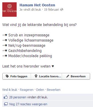 Feedback vragen via social media marketing facebook