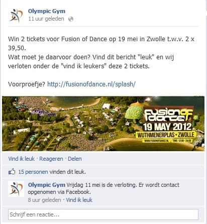 Olympicgym Facebook campagne